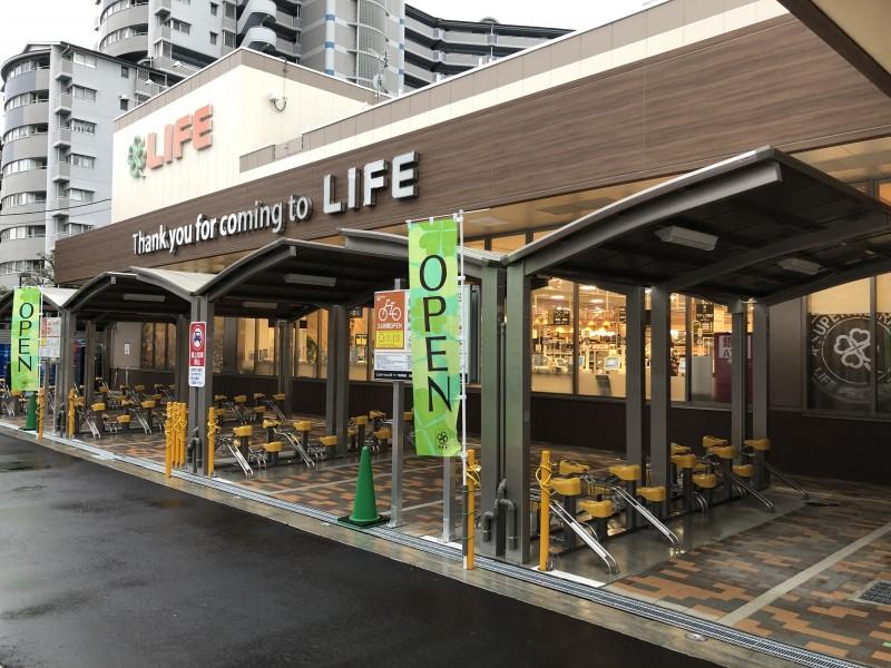 【エコステーション21】ライフ朝潮橋店駐輪場