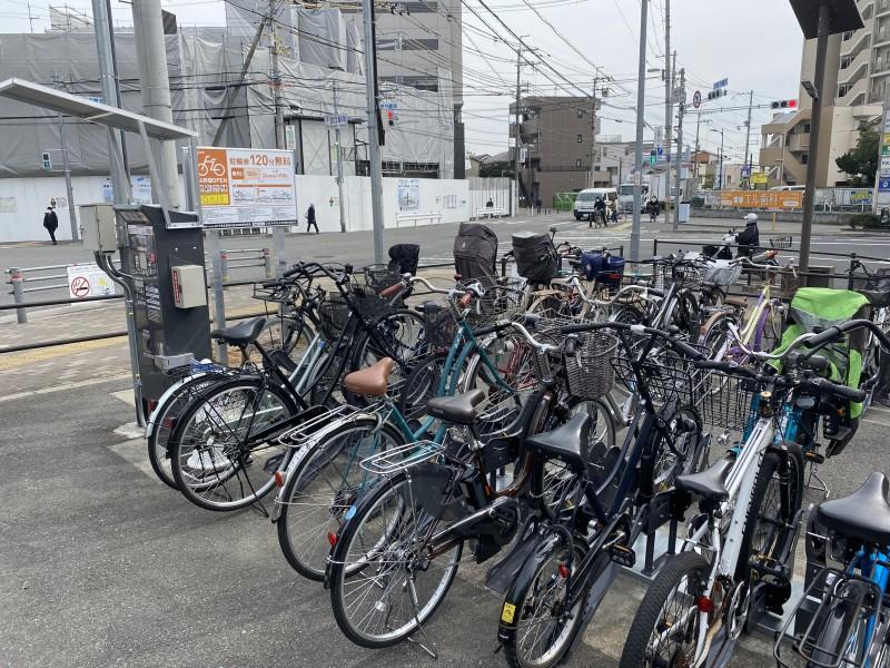 【エコステーション21】千里丘駅南交差点自転車駐車場